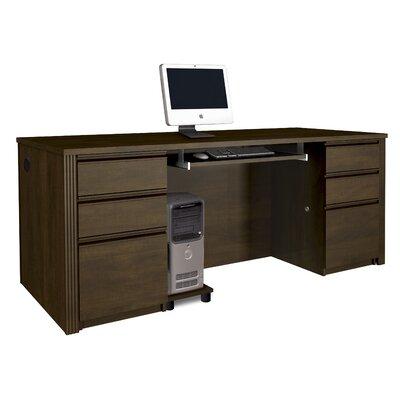 Bormann Standard Desk Office Suite Color: Chocolate