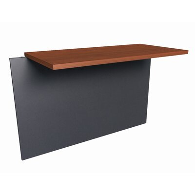 "Bormann 30.4"" H x 39.4"" W Desk Bridge Finish: Bordeaux and Graphite"