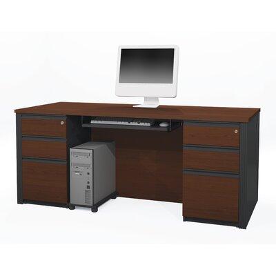 Bormann Computer Desk Finish: Bordeaux & Graphite