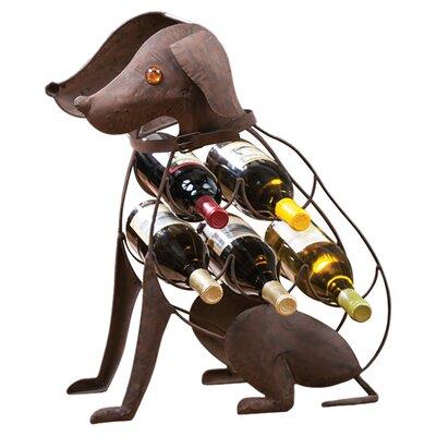 Gaskell Dog 5 Bottle Tabletop Wine Rack