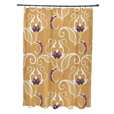 Harmen Shower Curtain Color: Yellow