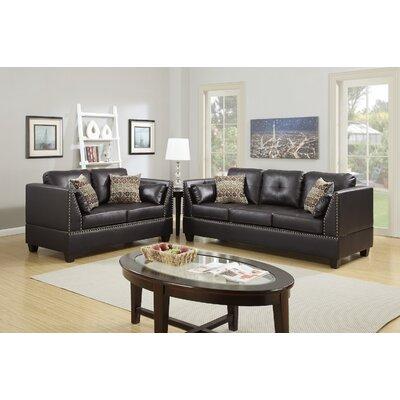 Scheuerman 2 Piece Living Room Set Upholstery: Espresso