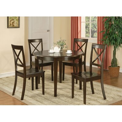 Hillhouse 5 Piece Dining Set Upholstery: Wood Seat