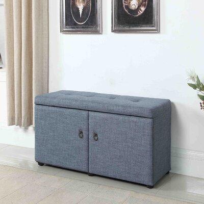 Argent Upholstered Shoe Storage Bench Color: Slate Blue