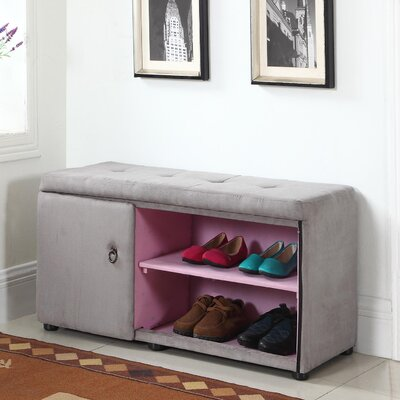 Argent Shoe Storage Bench Color: Gray