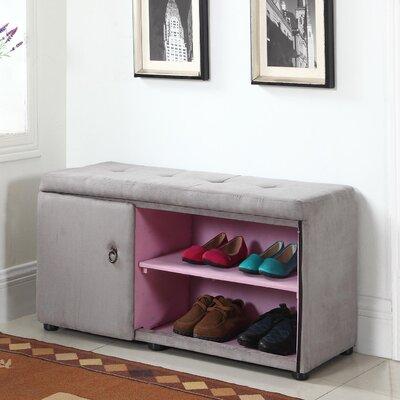 Argent Shoe Storage Bench Color: Gray