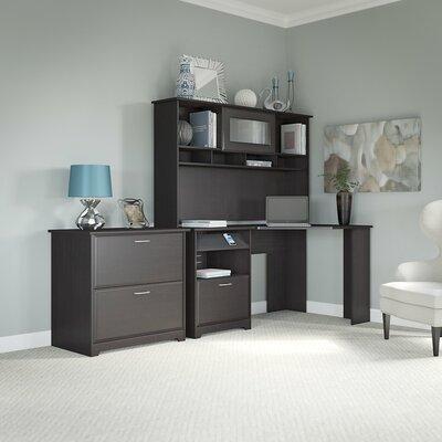 Hillsdale Corner Executive Desk with Hutch & Lateral File Color: Espresso Oak