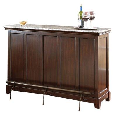 "Covington Counter Bar with Wine Storage Size: 38"" H x 56"" W x 18"" D"