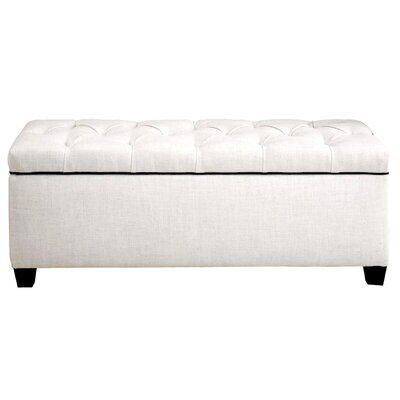 Hayworth Diamond Tufted Upholstered Storage Bench Upholstery: Off-White
