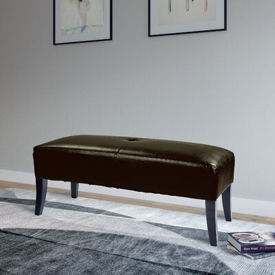 Cummingham Upholstered Bench Upholstery Color: Brown