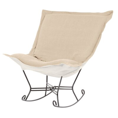 Azaria Scroll Sterling Rocking Chair Upholstery: Sand