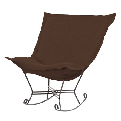 Azaria Scroll Sterling Rocking Chair Upholstery: Chocolate