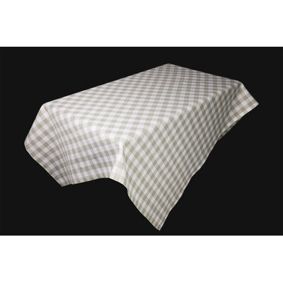 """Indianola Tablecloth Size: 84"""" W x 60"""" L, Color: Natural"""