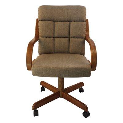 Ceballos Swivel Office Chair Color: Toast Tweed
