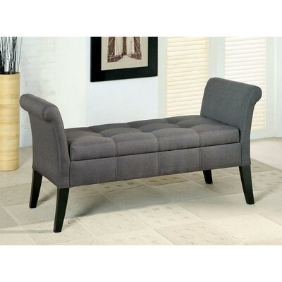 Klaus Upholstered Storage Bench Upholstery: Gray