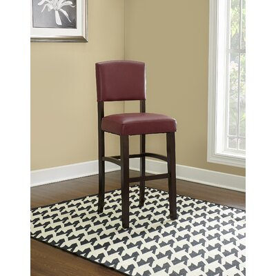 """Caldwell Bar & Counter Stool Seat Height: Bar Stool (30"""" Seat Height), Color: Red"""