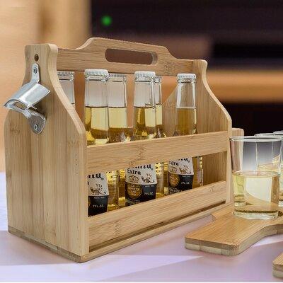 Van Reipen Opener Bamboo Floor Wine Bottle Rack