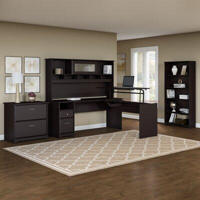 Hillsdale 5 Piece L-Shaped Desk Office Suite Color: Espresso Oak