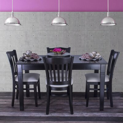 Gorney 5 Piece Dining Set Color: Black