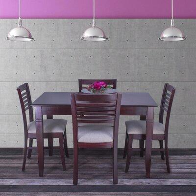 Goris 5 Piece Dining Set Color: Dark Mahogany