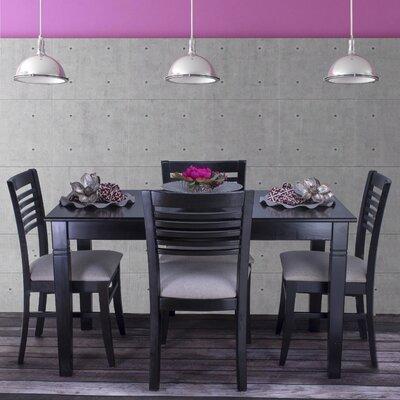 Goris 5 Piece Dining Set Color: Black