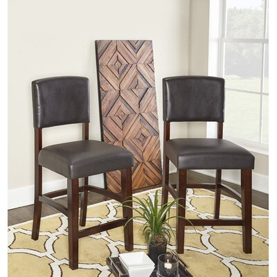 """Caldwell Bar & Counter Stool Seat Height: Counter Stool (24.17"""" Seat Height), Color: Espresso"""