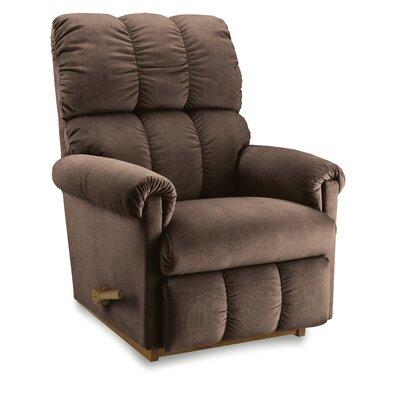 Vail Manual Recliner Upholstery: Mocha, Base Finish: Black, Motion Type: Wall Hugger