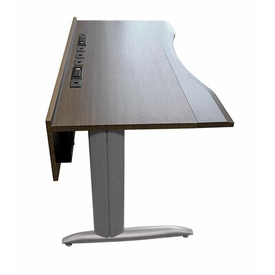 "63"" W Training Table with Cable Management Tabletop Finish: Aria"