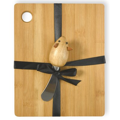 Mouse 2 Piece Cutting Board and Spreader Set