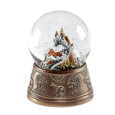 GenesisFineArtsLtd Snow Fox Snow Globe