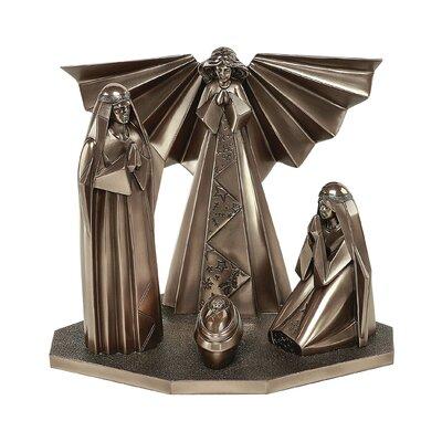 GenesisFineArtsLtd Christmas Crib with Angel