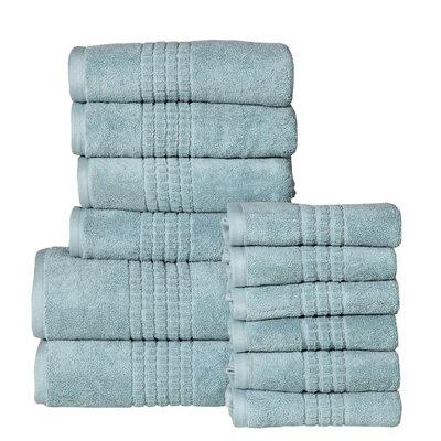 Campbelltown 12 Piece 100% Cotton Towel Set Color: Sea Blue