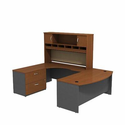 Series C U Shaped Desk Office Suite Color: Auburn Maple/Graphite Gray