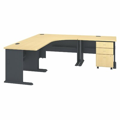 Series A L-Shape Executive Desk Color: Beech