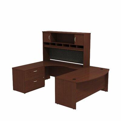 Series C U Shaped Desk Office Suite Color: Mahogany/Mahogany