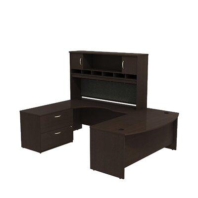 Series C U Shaped Desk Office Suite Color: Mocha Cherry/Mocha Cherry