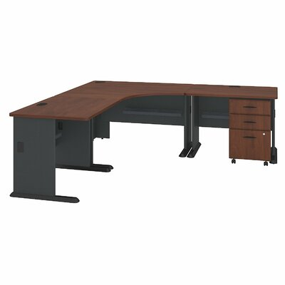 Series A L-Shape Executive Desk Color: Hansen Cherry
