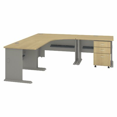 Series A L-Shape Executive Desk Color: Light Oak