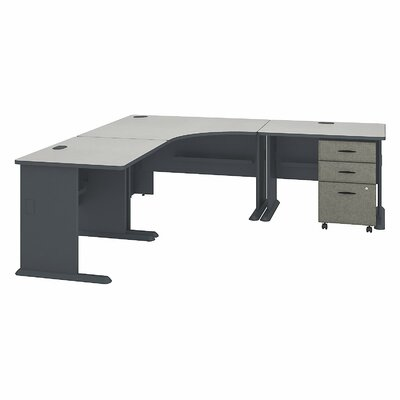 Series A L-Shape Executive Desk Color: Slate White Spectrum