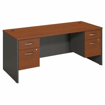 """Series C Executive Desk Color: Auburn Maple, Size: 30"""" H x 70"""" W x 30"""" D"""