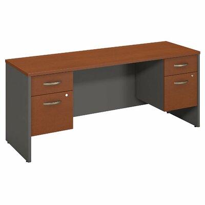 """Series C Executive Desk Color: Auburn Maple, Size: 30"""" H x 60"""" W x 24"""" D"""