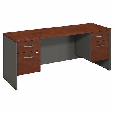 """Series C Executive Desk Color: Hansen Cherry, Size: 30"""" H x 60"""" W x 24"""" D"""