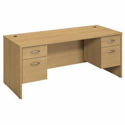 """Series C Executive Desk Color: Light Oak, Size: 30"""" H x 70"""" W x 30"""" D"""
