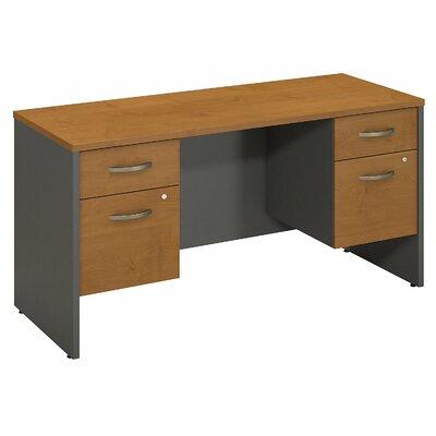 """Series C Executive Desk Color: Natural Cherry, Size: 30"""" H x 60"""" W x 24"""" D"""
