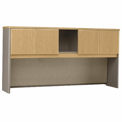 "Series A 36.5"" H x 71.54"" W Desk Hutch Finish: Danish Oak/Sage"