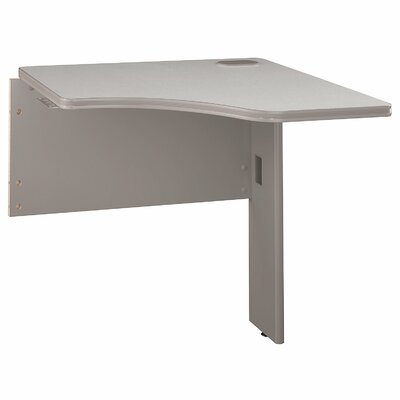 "Series A 29.8"" H x 29.45"" W Desk Peninsula Finish: White Spectrum/Pewter"