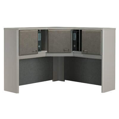 "Series A 36.5"" H x 47.17"" W Desk Hutch Finish: Pewter"