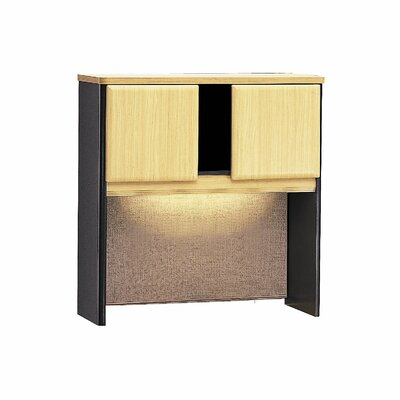 "Series A 36.5"" H x 35.5"" W Desk Hutch Finish: Euro Beech/Slate Gray"