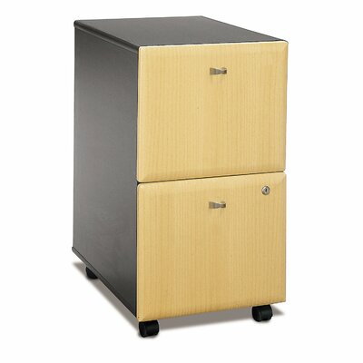 Series A 2 Drawer Vertical File Cabinet Finish: Euro Beech/Slate Gray