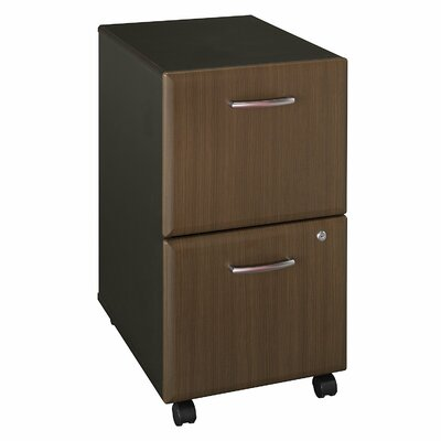 Series A 2 Drawer Vertical File Cabinet Finish: Cappucino Cherry/Hazelnut Brown